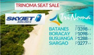 Skyjet Trinoma Seat Sale: July 2017-September 2018 Trips