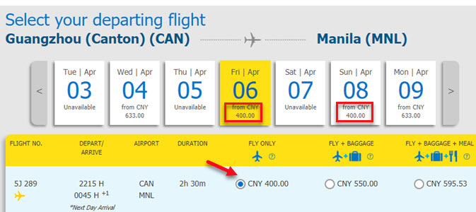 Cebu-Pacific-Sale-Ticket-Guangzhou-to-Manila