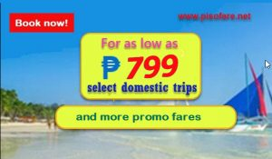 Promo Fare Tickets for September- December 2017 Trips