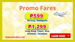 Promo Fares for October, November, December 2017: Available for Booking