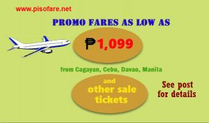 Cebu Pacific Seat Sale 2017: October, November, December