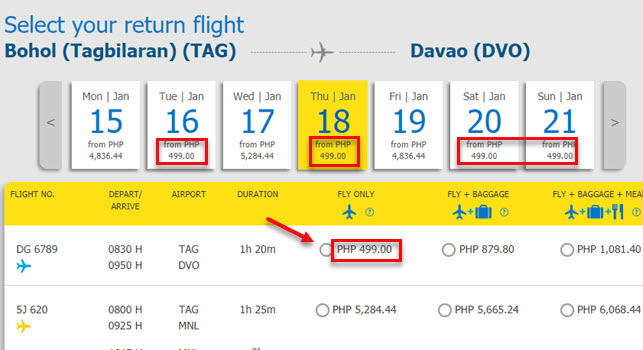 Cebu-Pacific-Seat-Sale-Tagbilaran-to-Davao