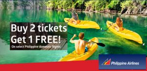 Philippine Airlines Buy 2 Tickets Get 1 Free Domestic Promo 2017