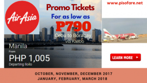 Air Asia Seat Sale: October 2017- March 2018