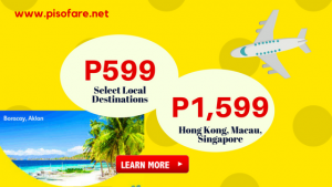 As Low as P599 Promo Fares 2018: January, February, March, April, May, June