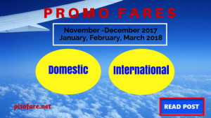 Cebu Pacific Promo Fares for November 2017- March 2018 Trips