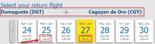 Dumaguete-to-Cagayan-De-Oro-Cebu-Pacific-sale-ticket.