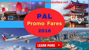 Philippine Airlines Promo Fares January- June 2018 via Citi Card