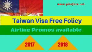 Visit Taiwan via Promo Fares of Philippine Airlines, Cebu Pacific and Air Asia