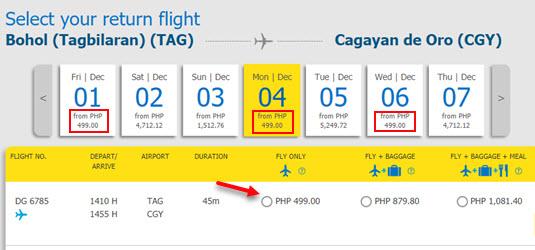 Tagbilaran-to-Cagayan-De-Oro-Cebu-Pacific-Promo