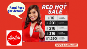 Air Asia Red Hot Sale Promos as low as P16: 2018 to 2019 Travel