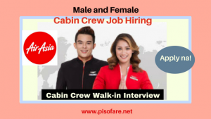 Air Asia Cabin Crew Walk- In Job Hiring December 2017