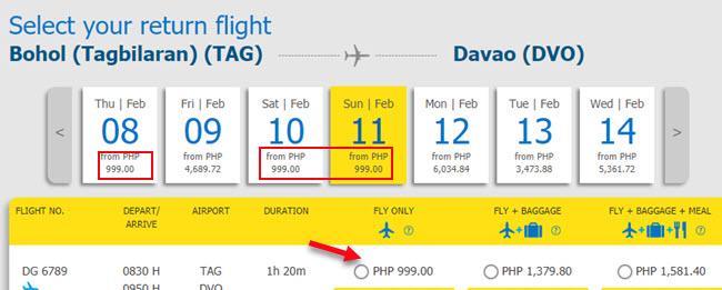 Cebu-Pacific-Promo-Ticket-Tagbilaran-to-Davao.