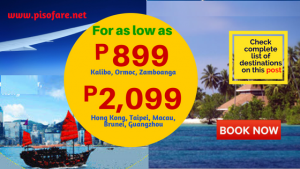 Promos as low as P899 for 2018: January, February, March