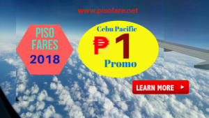 Book 1 PISO FARE Promo Fares July- December 2018 Trips
