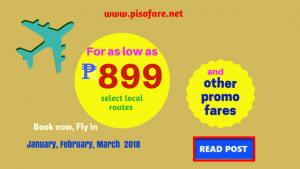 Promo Fares January, February, March 2018: Ticket Prices and Destinations