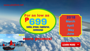 Promo Fares as low as P699 March, April, May June 2018
