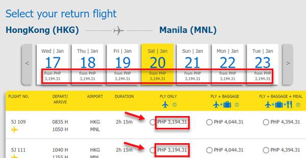Cebu-pacific-sale-ticket-Hong-Kong-to-Manila
