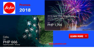 Air Asia 2018 Promo Fares: January- July 2018
