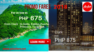 Air Asia January- July 2018 Promos Starts at P675
