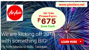 2018 Air Asia Promos: January, February, March, April, May