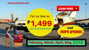 February, March, April, May 2018 Flight Promos