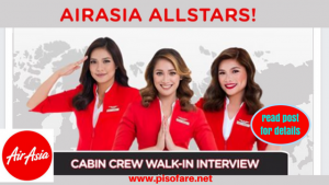 Air Asia Cabin Crew Walk-In Job Hiring March 2018
