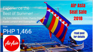 Air Asia Seat Sale March- August 2018