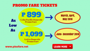 As low as P899 Sale Tickets Up for Booking
