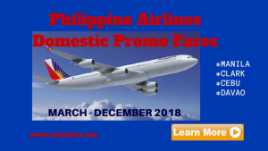 March -November 2018 Philippine Airlines Domestic Promos