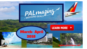 Philippine Airlines Promos March-April 2018 Trips