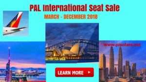 Philippine Airlines International Seat Sale March-November 2018