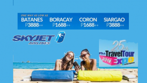 Skyjet Promos 2018 Batanes, Siargao, Boracay, Coron: PTAA Travel Expo