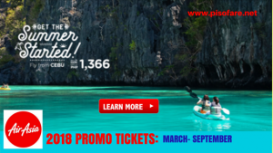 Air Asia March-September 2018 Promos: On Sale