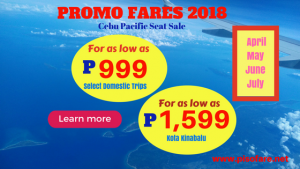 Promo Fares April-July 2018 Cebu and Manila