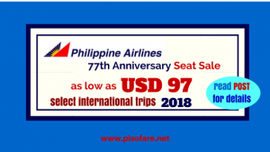 Philippine Airlines as low as USD 97 International Roundtrip Promo