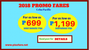 As Low as P699 Promo Fare August-December 2018