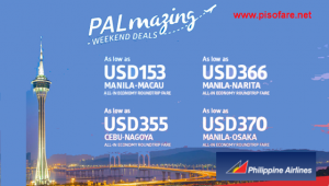 Philippine Airlines Promos Japan, Macau, Hong Kong