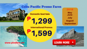 Promo Tickets for May to September 2018 Travel