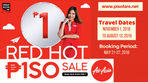 Air Asia Red Hot Piso Sale November 2018- August 2019