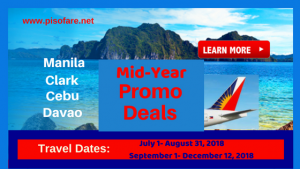 Philippine Airlines Mid- Year Promo Deals Domestic Trips