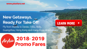 Air Asia 2018 to 2019 Promo Fare Tickets