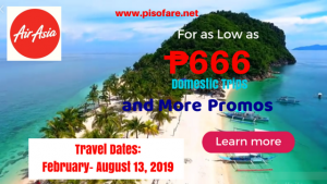 Air Asia February-August 2019 Promo Fares Start at P666