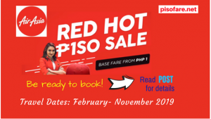 Air Asia Red Hot Piso Sale Tickets 2019 Available Soon