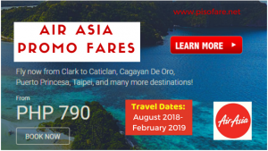 Air Asia Promo Tickets as Low as P790 for 2018- 2019 Trips