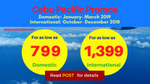 Cebu Pacific Promo Fares Start at P799