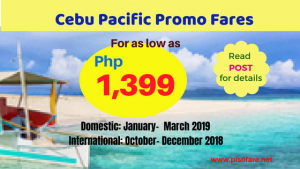 Cebu Pacific Promos Domestic 2019, International 2018