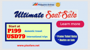 Philippine Airlines Ultimate Seat Sale: September 2018- March 2019