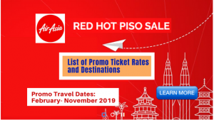 Air Asia Red Hot Sale Ticket Prices and Destinations