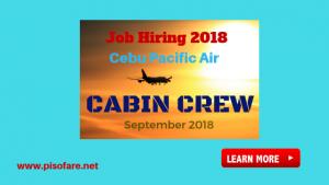 Cebu Pacific Job Opening Cabin Crew 2018 Manila, Cebu